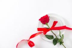 Belles fleurs roses sur le fond blanc Carte de voeux de fête Photo libre de droits