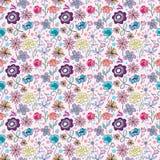 Belles fleurs sans joint de dessin animé Images stock