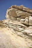 Belles formations de roche blanches sur la côte chypriote image stock