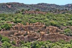 Belles formations rocheuses de parc national de Matopos, Zimbabwe photo libre de droits