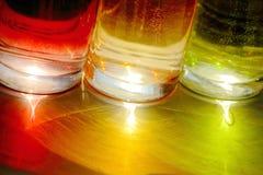 Belles glaces ou glace colorées Image stock