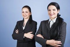 Belles jeunes femmes d'affaires Photos stock