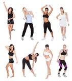 Belles jeunes femmes de forme physique Image stock