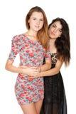 Belles jeunes femmes et leur amitié Image libre de droits