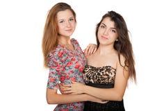 Belles jeunes femmes et leur amitié Images libres de droits
