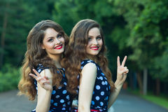 Belles jeunes filles Images stock