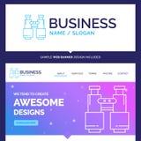 Belles jumelles de marque de concept d'affaires, découverte, recherche illustration stock