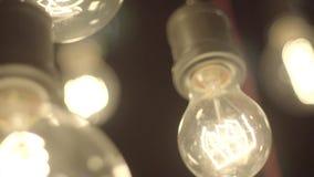 Belles lampes d'Edison banque de vidéos