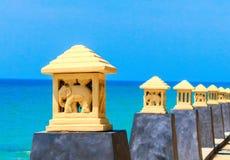 Belles lampes sur l'avant de plage Photographie stock libre de droits
