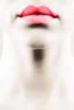 Belles languettes rouges Images libres de droits