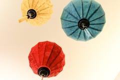 Belles lanternes vietnamiennes de lampe chinoise Photo stock