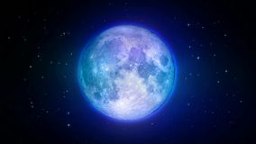 Belles lune et étoiles, le meilleur fond de vidéo de boucle banque de vidéos