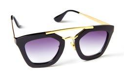 Belles lunettes de soleil avec le verre coloré images stock