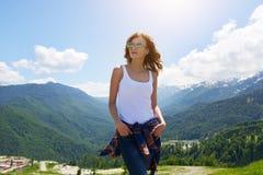 belles lunettes de soleil de fille Photo libre de droits