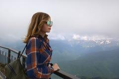 belles lunettes de soleil de fille Image libre de droits
