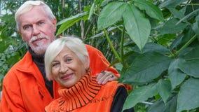 Belles ménages mariés par personnes âgées heureuses Photographie stock