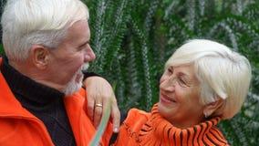Belles ménages mariés par personnes âgées heureuses Images libres de droits