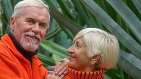 Belles ménages mariés par personnes âgées heureuses Images stock