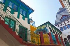 Belles maisons dans Komarno Image stock
