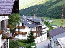 Belles maisons dans l'horizontal Photos libres de droits