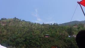Belles maisons sur la montagne Photos stock