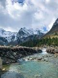 Belles montagnes d'Altai Septembre 2018 photos stock