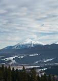 Belles montagnes de l'hiver dans Zakopane, Pologne Image libre de droits