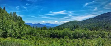 Belles montagnes de New Hampshire Images stock