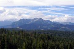 Belles montagnes de Tatra de paysage Photographie stock