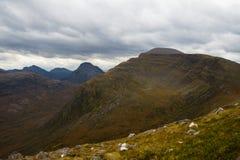 Belles montagnes de Wester Ross, Ecosse, R-U Photos libres de droits