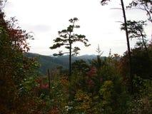 Belles montagnes fumeuses en automne photo stock