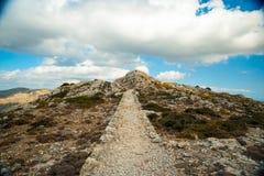 Belles montagnes sur la partie occidentale de l'île de Majorque, Spai Image libre de droits