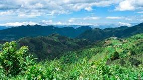 Belles montagnes vertes de Kalaw Image libre de droits