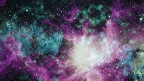 Belles nébuleuse, étoiles et galaxies Éléments de cette image meublés par la NASA Images libres de droits
