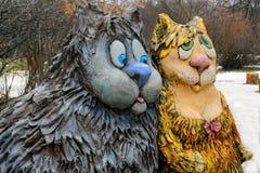Belles paires de chats Images libres de droits