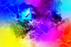 Belles particules sur le fond coloré, illustration 3d Images libres de droits