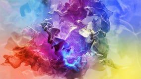 Belles particules sur le fond coloré, illustration 3d Image libre de droits