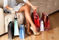 Belles pattes de femme Photo libre de droits