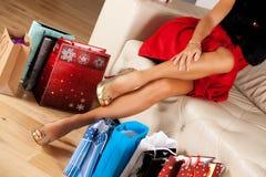 Belles pattes de femme Photos stock