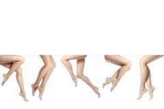 Belles pattes femelles après dépilage Soins de santé, soins du pied, traitement de rutine Station thermale et epilation copiez l' Image libre de droits
