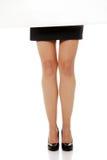 Belles pattes minces de femme d'affaires Photo libre de droits
