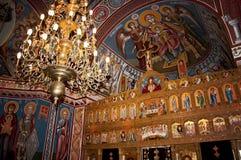 Belles peintures dans une église orthodoxe Images libres de droits