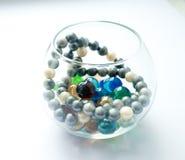 Belles perles en verre images libres de droits