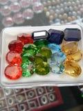 Belles pierres gemmes ovales photo libre de droits