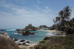 Belles plage et hutte en EL Cabo Images stock
