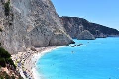 Belles plage et mer à Leucade en Grèce photo stock