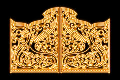 Belles portes brillantes d'ornement de fer Photo stock