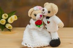Belles poupées d'ours de mariage Image stock