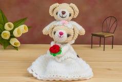 Belles poupées d'ours de mariage Image libre de droits