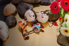 Belles poupées de couples dans le concept d'amour Image libre de droits
